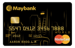 Maybank World Mastercard Card in Singapore