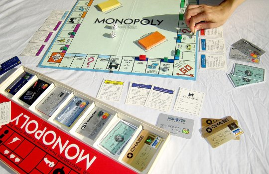 Using old credit card to play Monopoly
