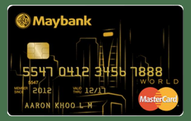 Maybank World Mastercard Card in Singapore