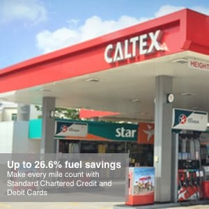 Caltex Petrol Promotion||Caltex Petrol Standard Chartered