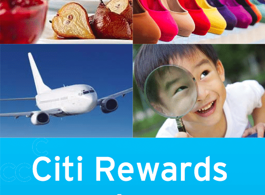 citibank credit card reward points redemption catalogue