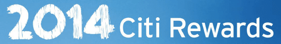 2014 Citibank rewards catalogue