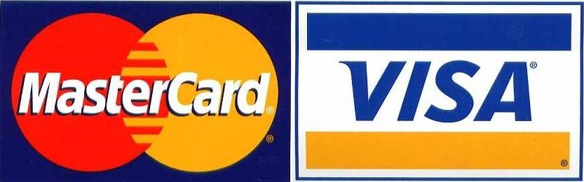 Logo visa and mastercard at Enjoy Compare