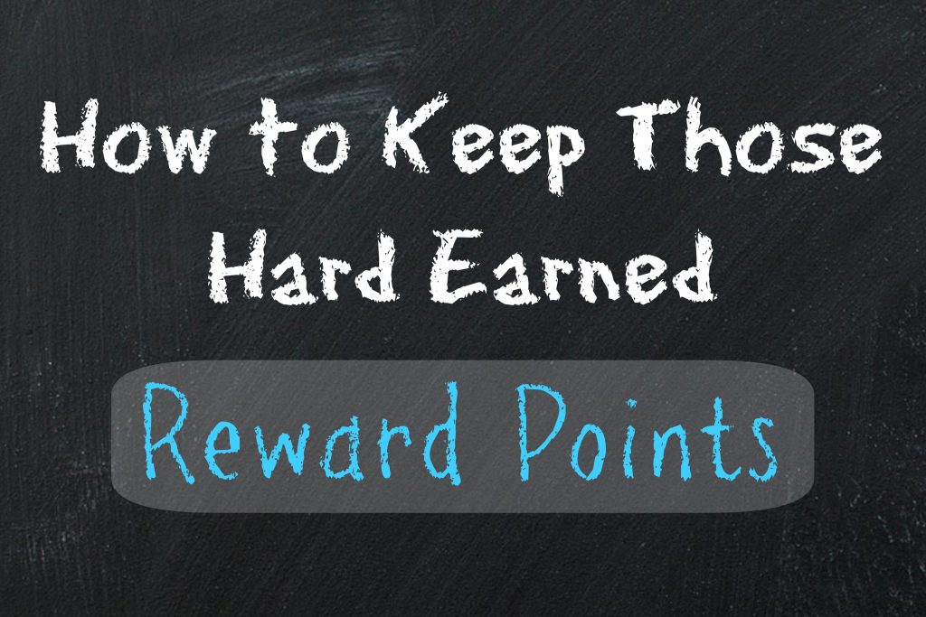 Keep hold of your credit card reward points