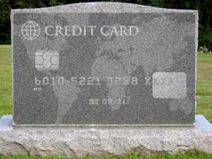 What happens to your credit card after death
